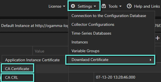 Download Certificates